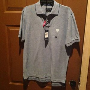 Men's Chaps polo bluish SS shirt size Small
